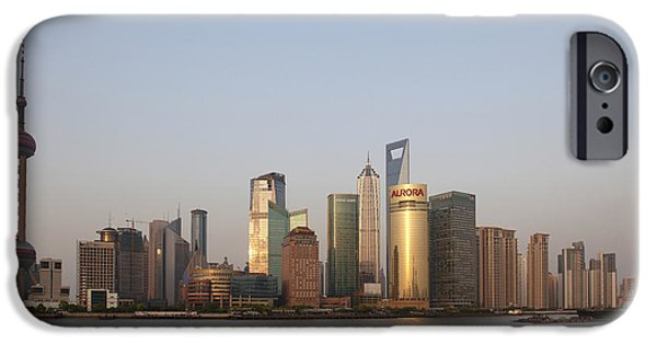 River View iPhone Cases - China, Shanghai, Pudong Skyline © iPhone Case by Tips Images
