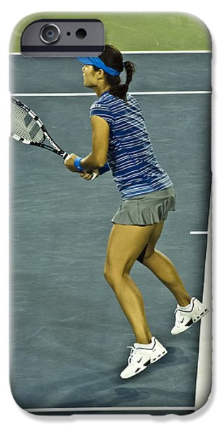 Wta iPhone Cases - China Tennis Star Li Na iPhone Case by Rexford L Powell