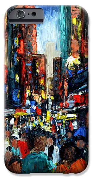 Frame Shop Digital Art iPhone Cases - China Town iPhone Case by Anthony Falbo