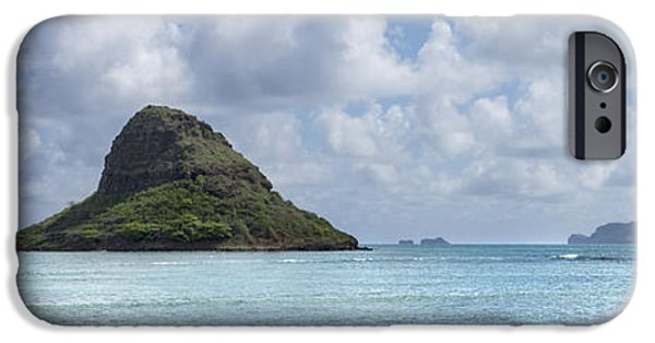 China Beach iPhone Cases - Chinamans Hat Panorama - Oahu Hawaii iPhone Case by Brian Harig