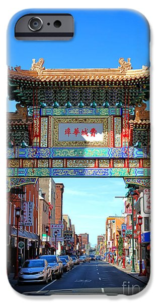 Phillies iPhone Cases - Chinatown Friendship Gate iPhone Case by Olivier Le Queinec