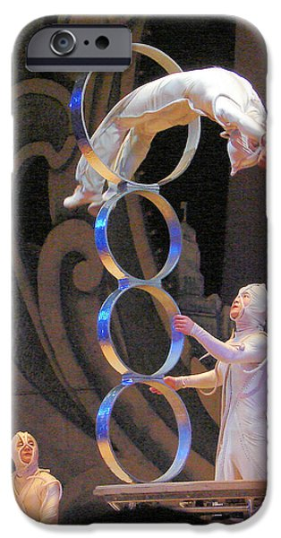 Operatic iPhone Cases - Chinese Acrobats iPhone Case by John Potts