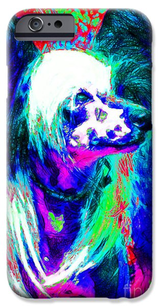 Chinese Crested Dog 20130125v3 iPhone Case by Wingsdomain Art and Photography