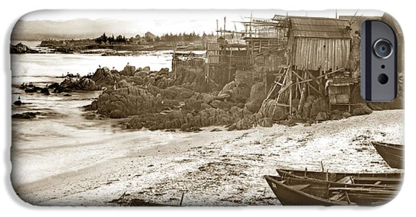 Recently Sold -  - East Village iPhone Cases - Chinese Fishing Village Pacific Grove California  Circa 1890 iPhone Case by California Views Mr Pat Hathaway Archives