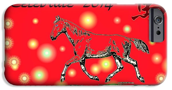 Year Of The Horse iPhone Cases - Chinese New Year 2014 iPhone Case by Joyce Dickens