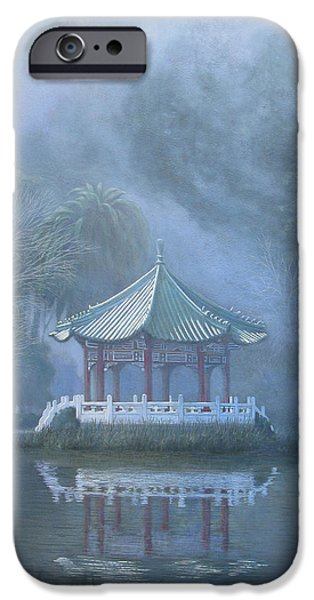 Leonard Filgate iPhone Cases - Chinese Pavilion iPhone Case by Leonard Filgate