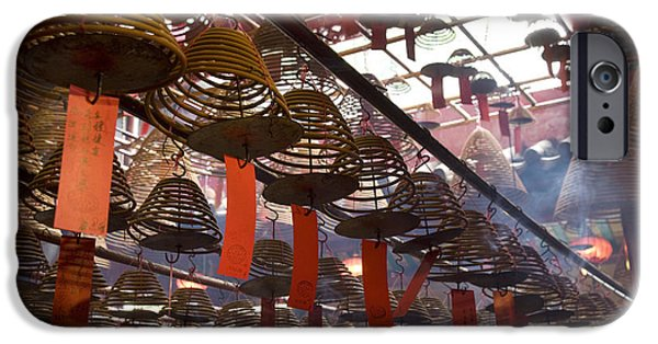 Colour Image iPhone Cases - Chinese Red Lantern, Quarry Bay Market iPhone Case by Tips Images