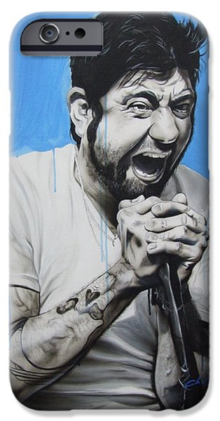 Musician Art iPhone Cases - Chino Moreno iPhone Case by Christian Chapman Art