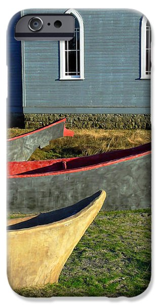 Chinook Canoes iPhone Case by Pamela Patch