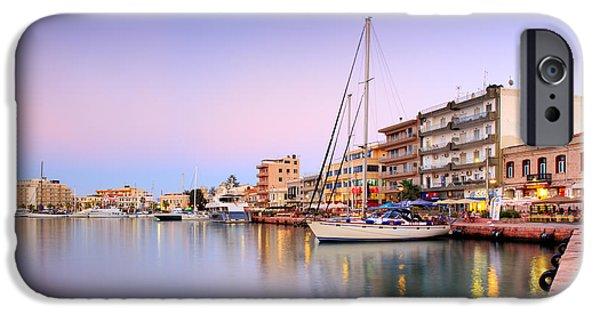 Mesta iPhone Cases - Chios Harbor  iPhone Case by Emmanuel Panagiotakis