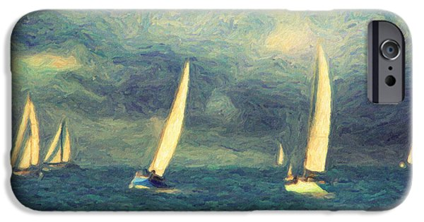 Sailing Paintings iPhone Cases - Chios iPhone Case by Taylan Soyturk