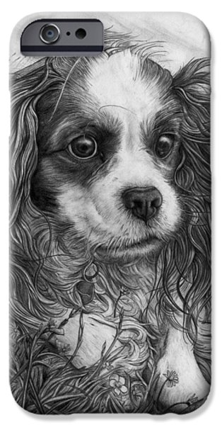 Chip Drawings iPhone Cases - Chip iPhone Case by Ian Cuming