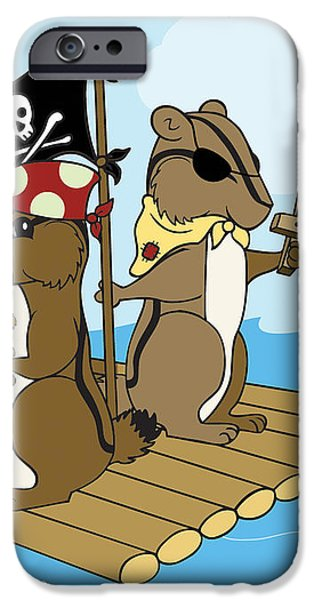 Chipmunk Pirate Dash and Scoot iPhone Case by Christy Beckwith