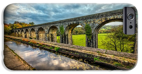 Walkway Digital Art iPhone Cases - Chirk Aqueduct 1801 iPhone Case by Adrian Evans