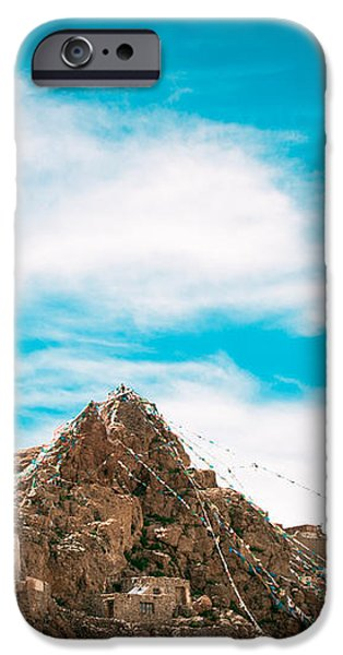 Chiu Monastery near Lake Manosarovar iPhone Case by Raimond Klavins