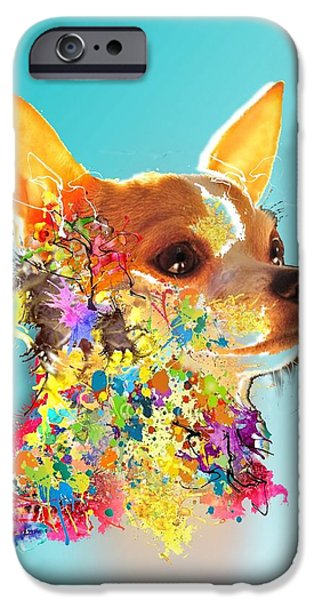 Chiwawa iPhone Cases - Chiwawa Chiko iPhone Case by Adam Orzechowski