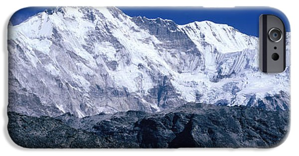 Snow-covered Landscape Photographs iPhone Cases - Cho Oyu From Goyko Valley Khumbu Region iPhone Case by Panoramic Images