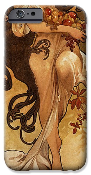 One iPhone Cases - Chocolat Masson, 1897 Lithograph In Colours iPhone Case by Alphonse Marie Mucha