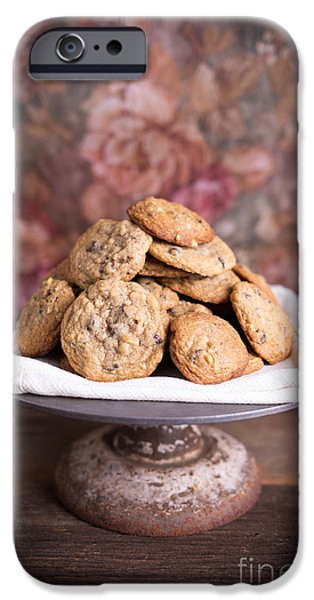 Chip iPhone Cases - Chocolate Chip Cookies iPhone Case by Edward Fielding