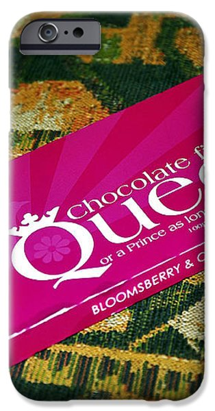 Chocolate fit for a Queen iPhone Case by Kaye Menner
