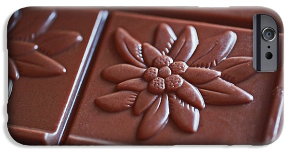Beautiful iPhone Cases - Chocolate Flower  iPhone Case by Rona Black