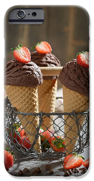 Chip iPhone Cases - Chocolate Ice Creams iPhone Case by Amanda And Christopher Elwell