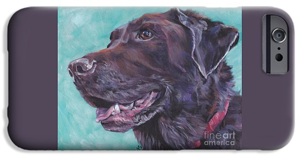 Chocolate Lab iPhone Cases - Chocolate Lab iPhone Case by Lee Ann Shepard