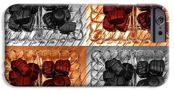 Digital Ceramics iPhone Cases - Chocolates iPhone Case by Barbara Griffin