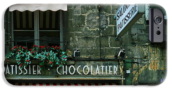 French Open iPhone Cases - Chocolatier in Clermont Ferrand France  iPhone Case by Nomad Art And  Design