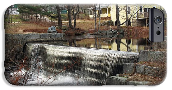 Mt Chocorua iPhone Cases - Chocorua Dam iPhone Case by Barbara McDevitt