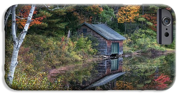 Mt Chocorua iPhone Cases - Chocorua Lake Reflection iPhone Case by Scott Thorp