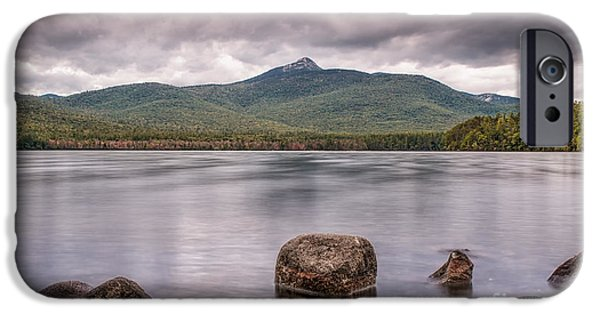 Mt Chocorua iPhone Cases - Chocorua Waterfront iPhone Case by Scott Thorp