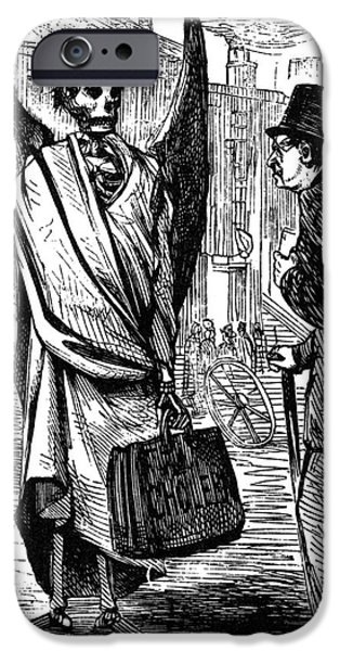 CHOLERA IN SLUMS, 1866 iPhone Case by Granger