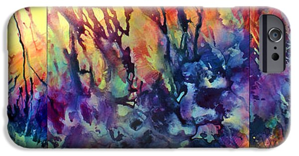 Colorful Abstract iPhone Cases - Choosing Position 1 iPhone Case by Michael Lang