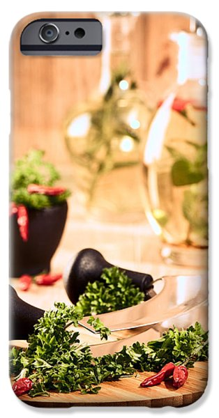 Chopping Herbs iPhone Case by Amanda And Christopher Elwell