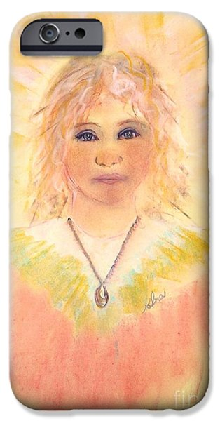 Angel Blues Pastels iPhone Cases - Chorister iPhone Case by Karen J Jones