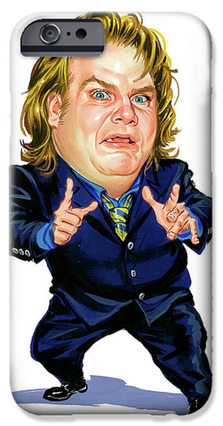 Chris iPhone Cases - Chris Farley iPhone Case by Art
