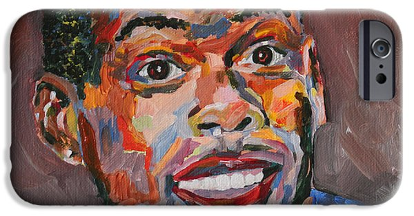 Nike Paintings iPhone Cases - Chris Rock Portrait iPhone Case by Robert Yaeger