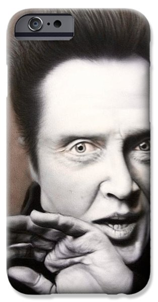 Airbrush iPhone Cases - Chris Walken iPhone Case by Grant Kosh