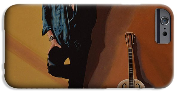 Celebrities Portrait iPhone Cases - Chris Whitley iPhone Case by Paul  Meijering