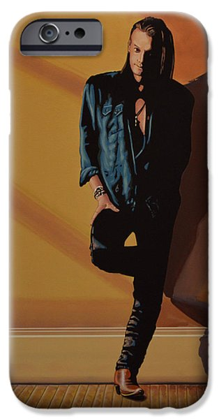 Singer-songwriter iPhone Cases - Chris Whitley iPhone Case by Paul Meijering