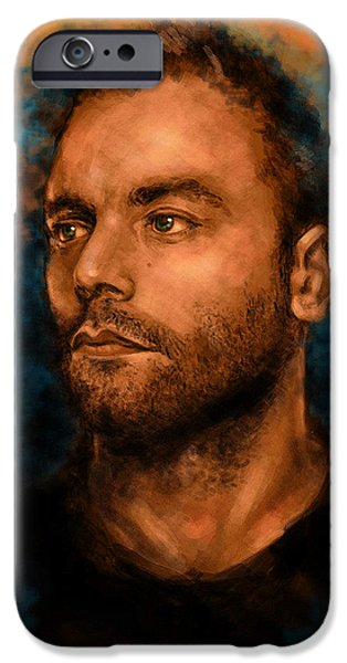 Bassist iPhone Cases - Chris Wolstenholme iPhone Case by J England