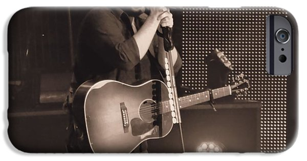 White Beard iPhone Cases - Chris Young On Stage iPhone Case by Dan Sproul