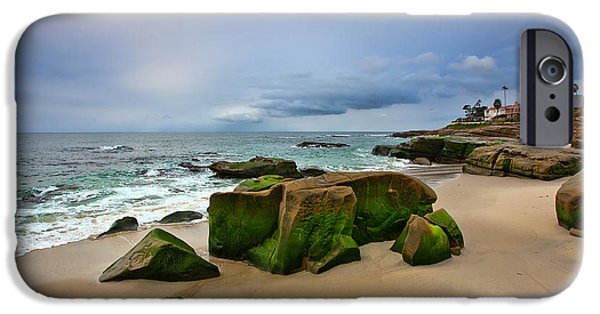 Moody Beach iPhone Cases - Chriss Rock 2013 iPhone Case by Peter Tellone