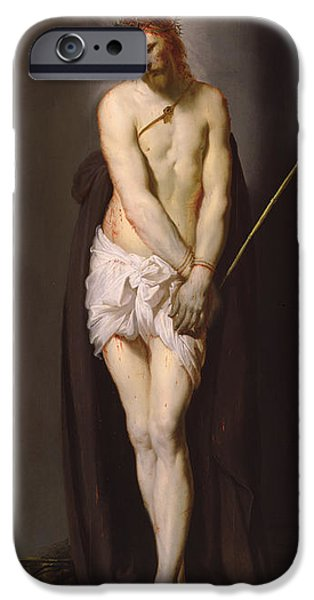 Crown iPhone Cases - Christ At The Column, 1632 Panel iPhone Case by Pieter Fransz. de Grebber