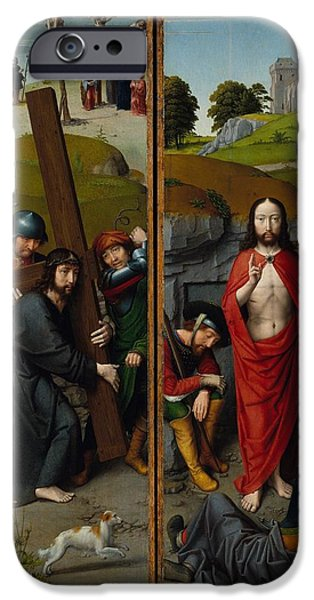 The Resurrection Of Christ iPhone Cases - Christ Carrying the Cross iPhone Case by Unknown