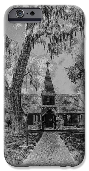 Christ Church Etching iPhone Case by Debra and Dave Vanderlaan