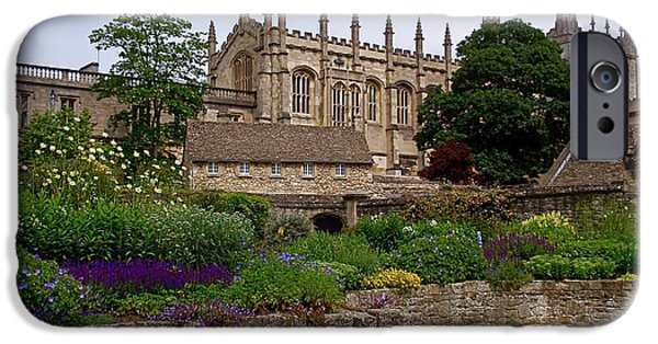 Gothic iPhone Cases - Christ Church in Spring iPhone Case by Rona Black