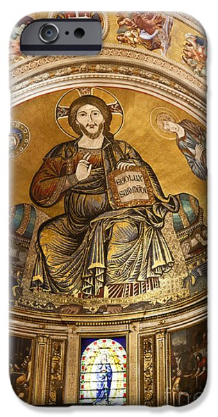 St John The Evangelist iPhone Cases - Christ in Majesty  Pisa duomo iPhone Case by Liz Leyden