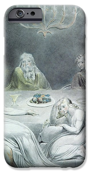 Christ in the House of Martha and Mary or The Penitent Magdalene iPhone Case by William Blake